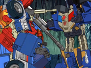 Prowl talks to Ironhide (Calm down)