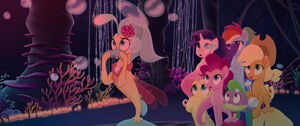 Mane 5, Spike and Skystar shocked at what Twilight is doing