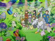 Digimon Frontier Main Heroes with Swanmon
