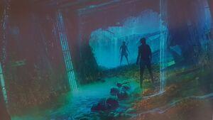 Rey underwater the Death Star concept art 2
