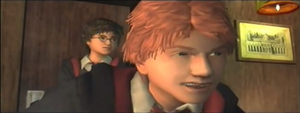 Ron and Harry facing Malfoy CONV