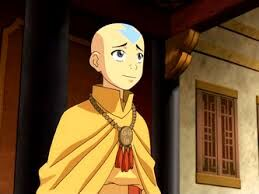 Aang in his air master's outfit