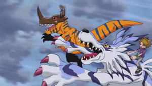 Greymon and Garurumon