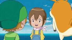 Hikari met T.K. and Patamon