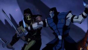 Mortal Kombat Legends Scorpion Revenge - Scorpion fights Sub-Zero