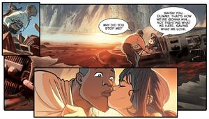 The-Last-Jedi-Graphic-Novel-Adaptation - Rose and Finn kiss