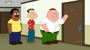 Peter, Cleveland and Quagmire (S13E14)