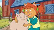 Sue ellen and her piggy friend