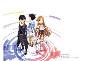 Yande.re 428457 adachi shingo asuna (sword art online) dress heels kirito premiere sword art online thighhighs