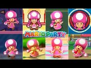 Evolution Of Toadette In Mario Party Games -2004-2018-