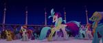 Princess Skystar hugging Queen Novo