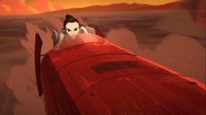 Rey-rides-speeder-Galaxy-of-Adventures