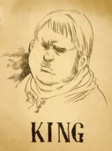 King Wanted Poster Anime
