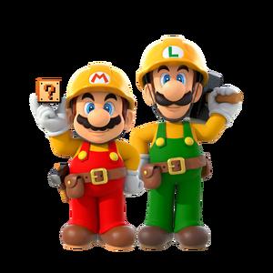 Super Mario Maker 2 - Mario & Luigi artwork
