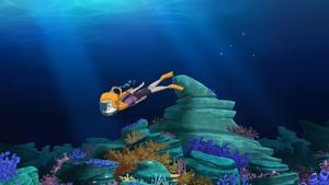 Thea swimming