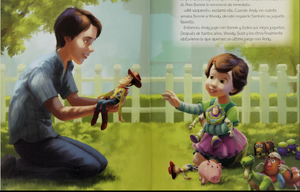 Toy story 3 bonnie and andy in the book