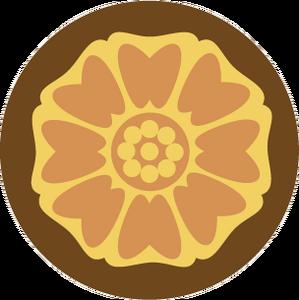 White lotus tile