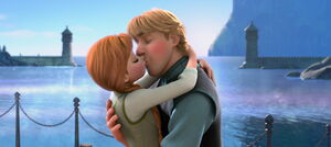Anna and Kristoff's first kiss