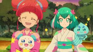 STPC25 Hikaru tells Yuni that yukatas are a must-wear when it comes to festivals