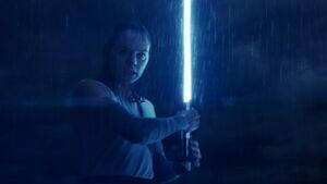 Rey confronts Luke