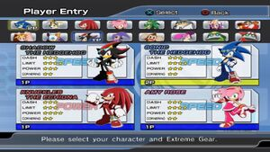 All Characters from Sonic Riders