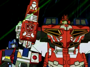 Optimus and Wing Saber (Ep. 26)