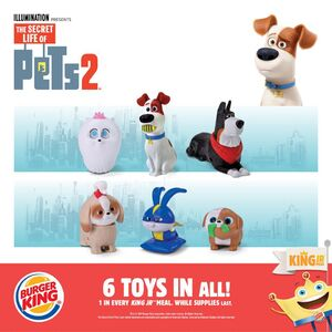 Burger King Jr Meal The Secret Life Of Pets 2