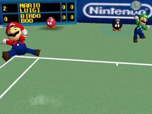 Mario Tennis 64 Mario and Luigi
