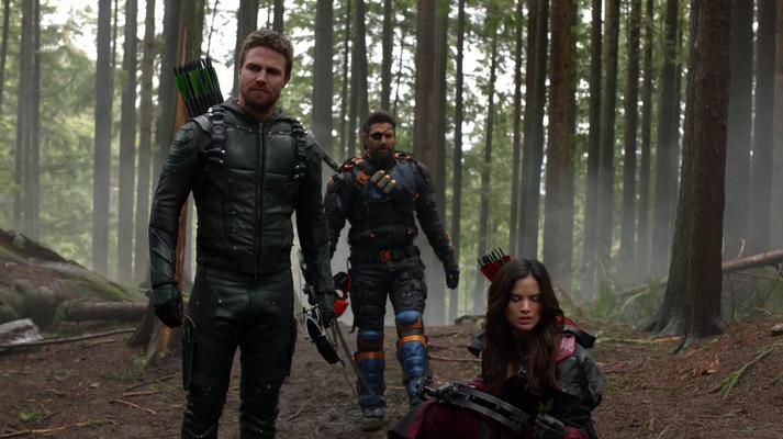 Oliver, Slade and Nyssa tracking Talia