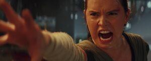 Rey pulls the saber