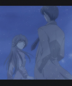 Younger Kyoko and Katsuya Honda in flashback