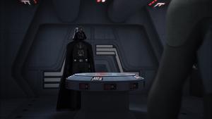 Darth Vader waiting