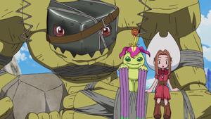 Golemon, Palmon and Mimi