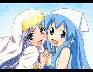 Yande.re 168674 crossover ikamusume index maita shinryaku! ikamusume to aru majutsu no index