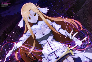 Yande.re 593826 armor asuna (sword art online) cleavage dress ichinose hiroshi stockings sword sword art online sword art online alicization thighhighs
