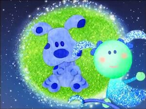Blue's Clues Moon's blue puppy story