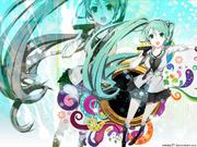 Miku sing wallpaper by mitche27-d4silye