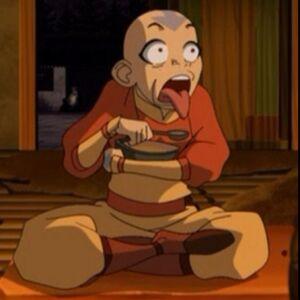 Aang is disgusted