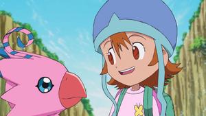 Biyomon and Sora