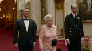 Bond with Queen Elizabeth II in Happy & Glorious