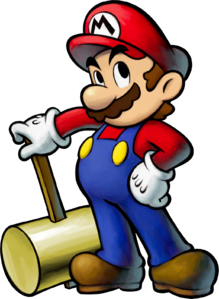 Mario with his Ultra Hammer