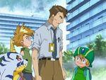 Takeru, Hiroaki, Gabumon and Yamato