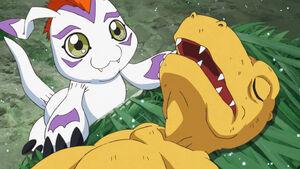 Gomamon and Agumon
