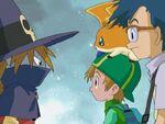 Joe, Takeru, Patamon and Wizardmon (Ep. 37)