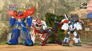 Optimus and his All-Stars Team