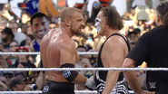 Sting and Triple H handshakes