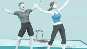 Two Wii Fit Trainers