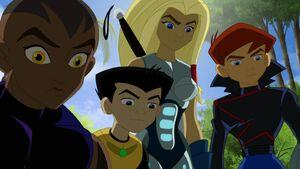 James, Torunn, Pym and Azari follow Tony and Vision