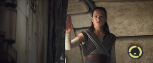 Rey closes the Falcon