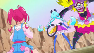STPC21 Hikaru is stunned to see Blue Cat as Cure Cosmo